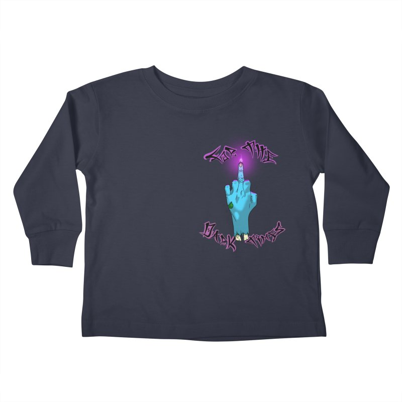 For The Dark Times (Zombie Pocket) Kids Toddler Longsleeve T-Shirt by Calahorra Artist Shop