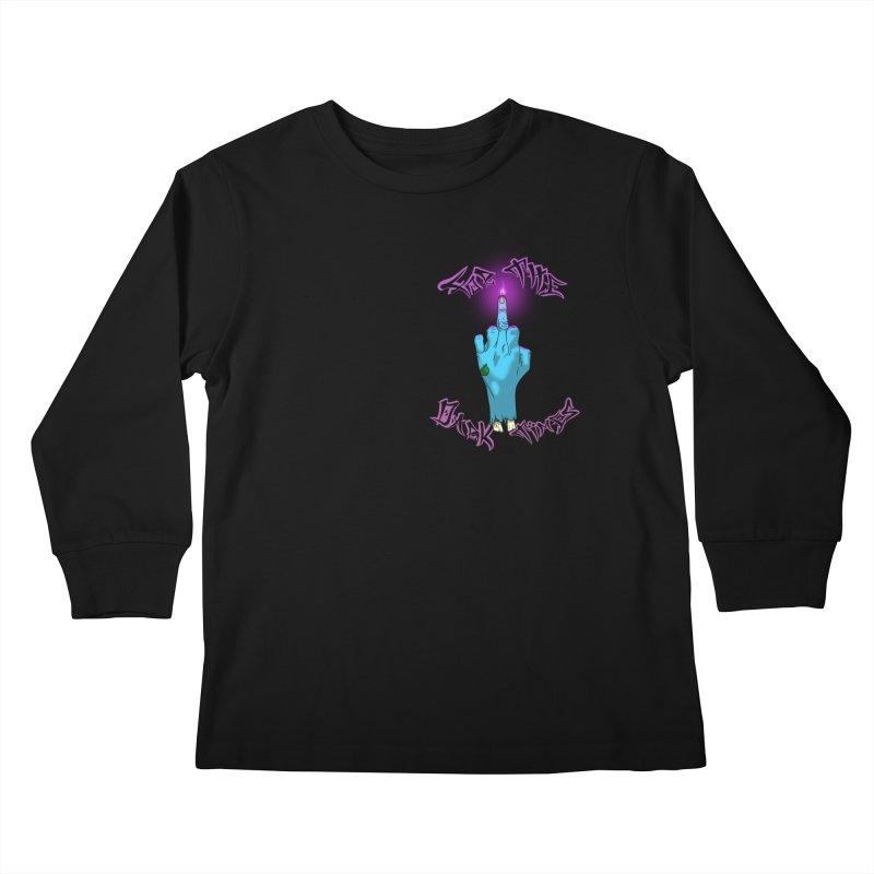 For The Dark Times (Zombie Pocket) Kids Longsleeve T-Shirt by Calahorra Artist Shop