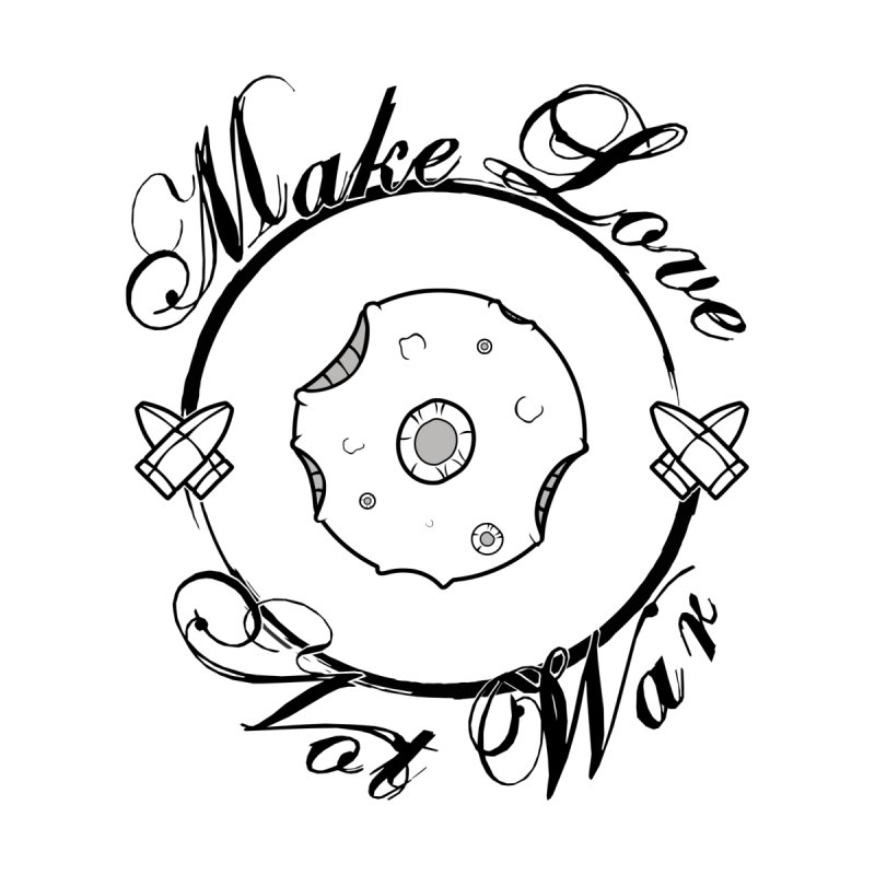 MAKE LOVE NOT WAR!!! In black outline Women's Scoop Neck by Calahorra Artist Shop