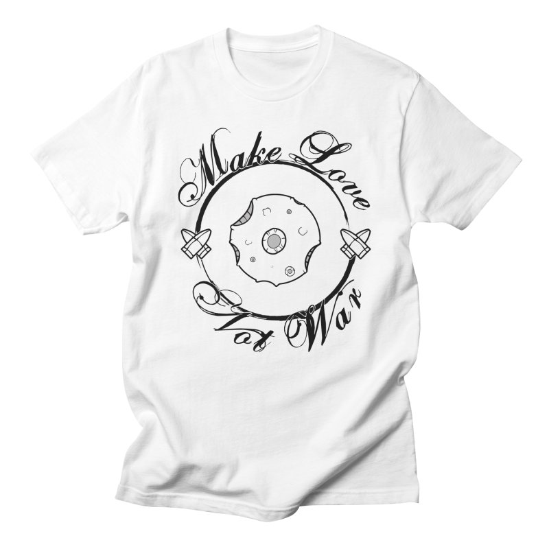 MAKE LOVE NOT WAR!!! In black outline Women's T-Shirt by Calahorra Artist Shop