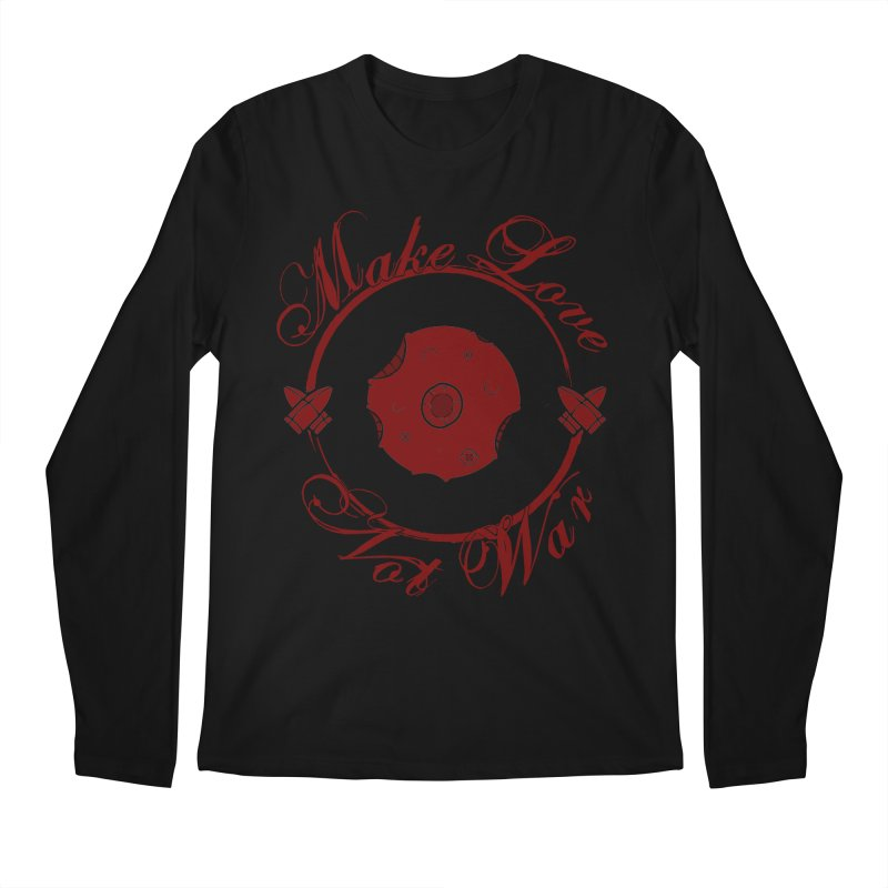 MAKE LOVE NOT WAR!!! Blood Moon Men's Regular Longsleeve T-Shirt by Calahorra Artist Shop