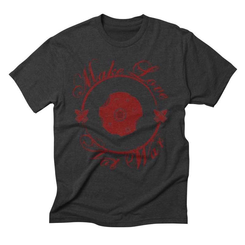 MAKE LOVE NOT WAR!!! Blood Moon Men's Triblend T-Shirt by Calahorra Artist Shop