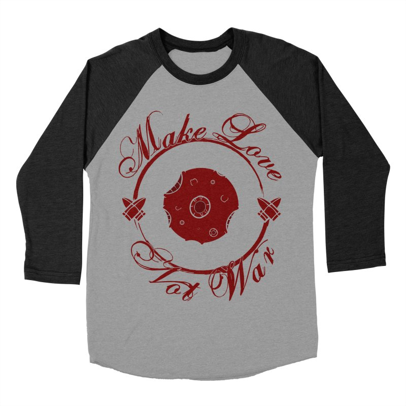 MAKE LOVE NOT WAR!!! Blood Moon Women's Baseball Triblend Longsleeve T-Shirt by Calahorra Artist Shop