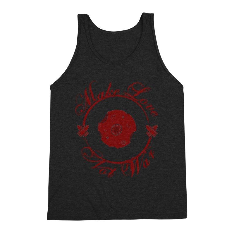 MAKE LOVE NOT WAR!!! Blood Moon Men's Triblend Tank by Calahorra Artist Shop