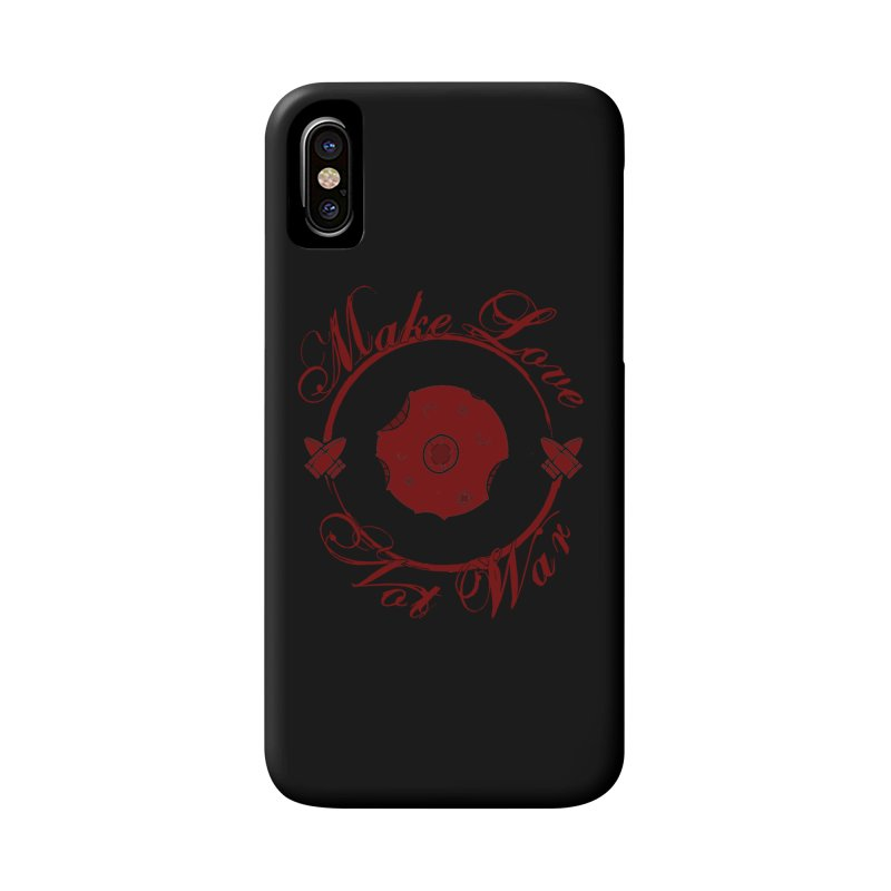 MAKE LOVE NOT WAR!!! Blood Moon Accessories Phone Case by Calahorra Artist Shop