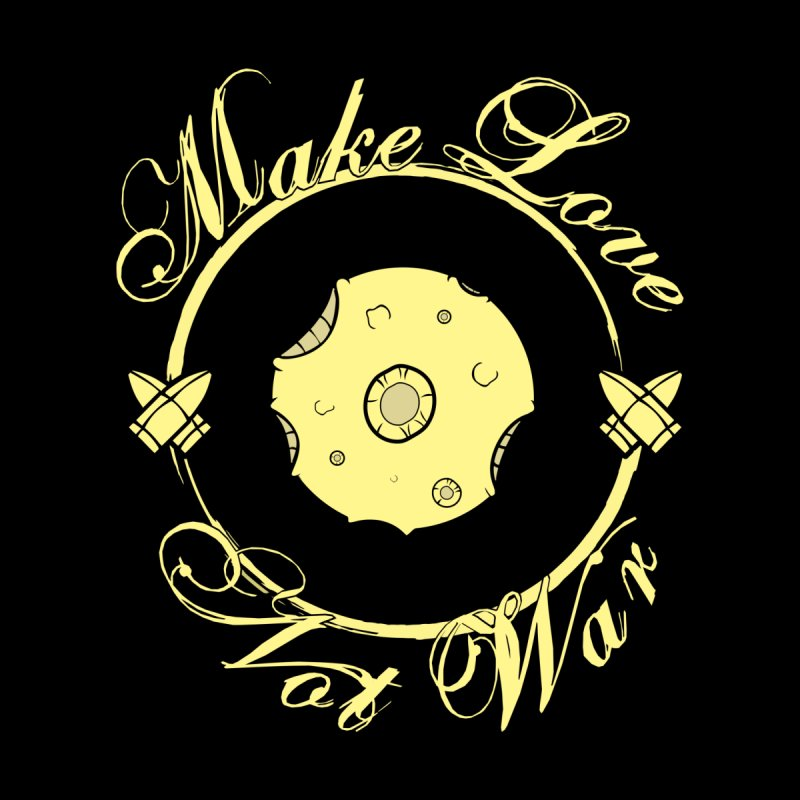 MAKE LOVE NOT WAR!!! In yellow Men's V-Neck by Calahorra Artist Shop