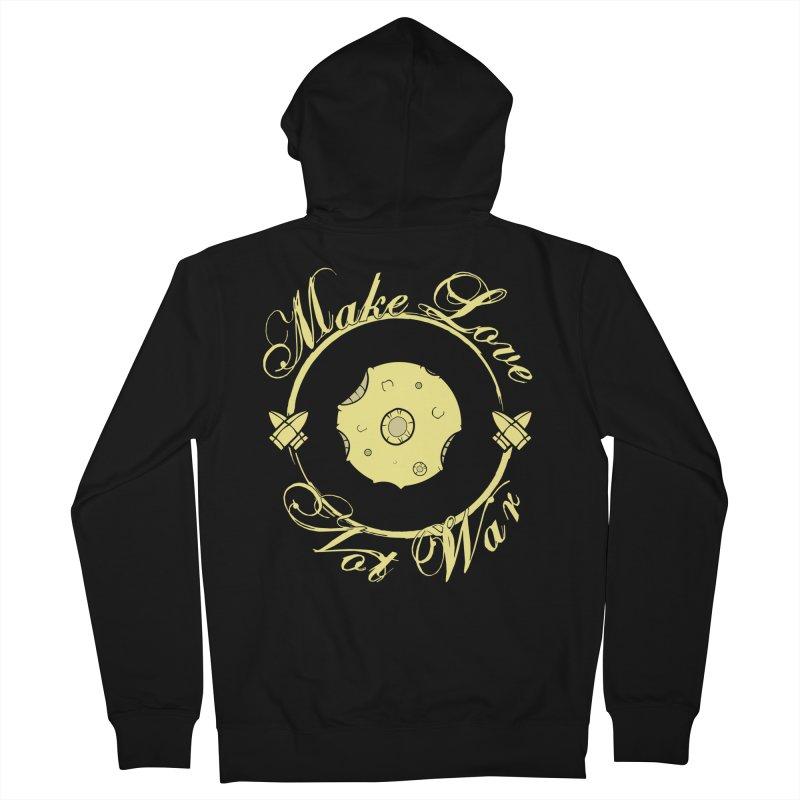 MAKE LOVE NOT WAR!!! In yellow Women's Zip-Up Hoody by Calahorra Artist Shop