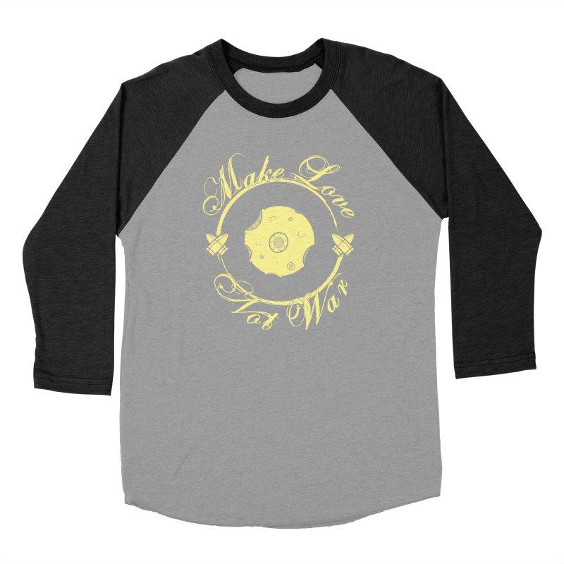 MAKE LOVE NOT WAR!!! In yellow Men's Longsleeve T-Shirt by Calahorra Artist Shop