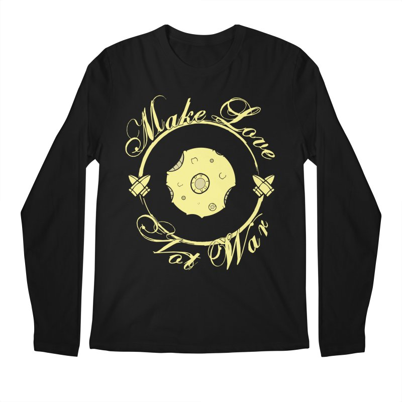 MAKE LOVE NOT WAR!!! In yellow Men's Regular Longsleeve T-Shirt by Calahorra Artist Shop
