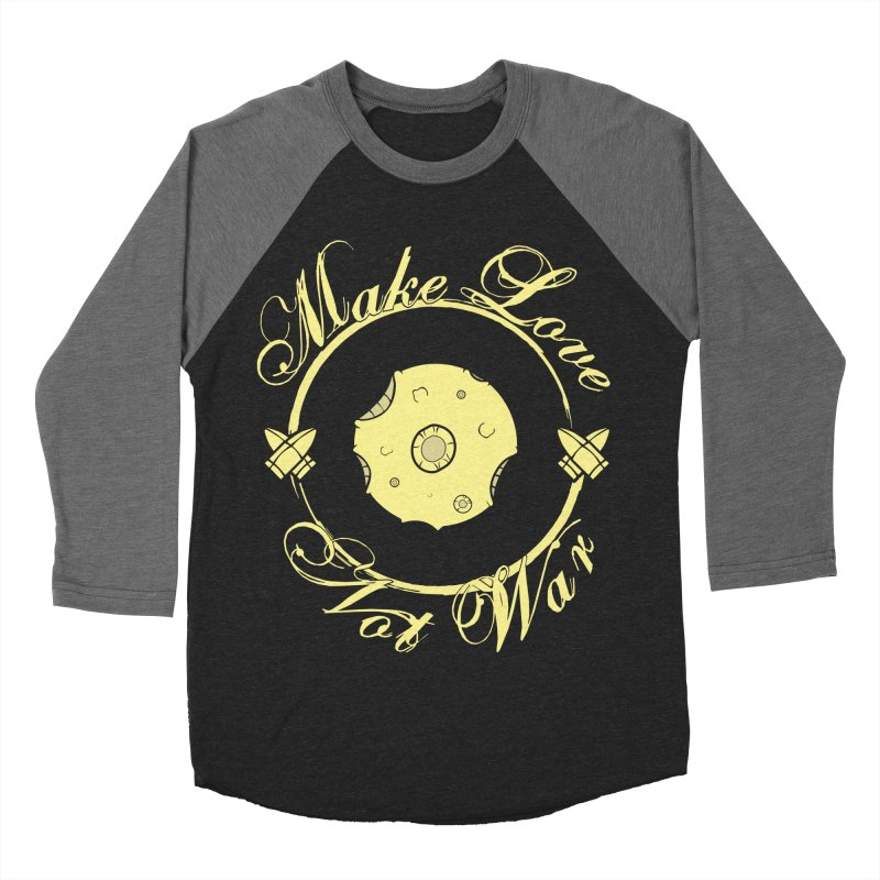 MAKE LOVE NOT WAR!!! In yellow Women's Baseball Triblend Longsleeve T-Shirt by Calahorra Artist Shop