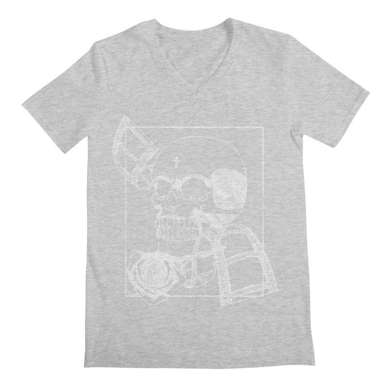 No. 2 in white outline Men's V-Neck by Calahorra Artist Shop