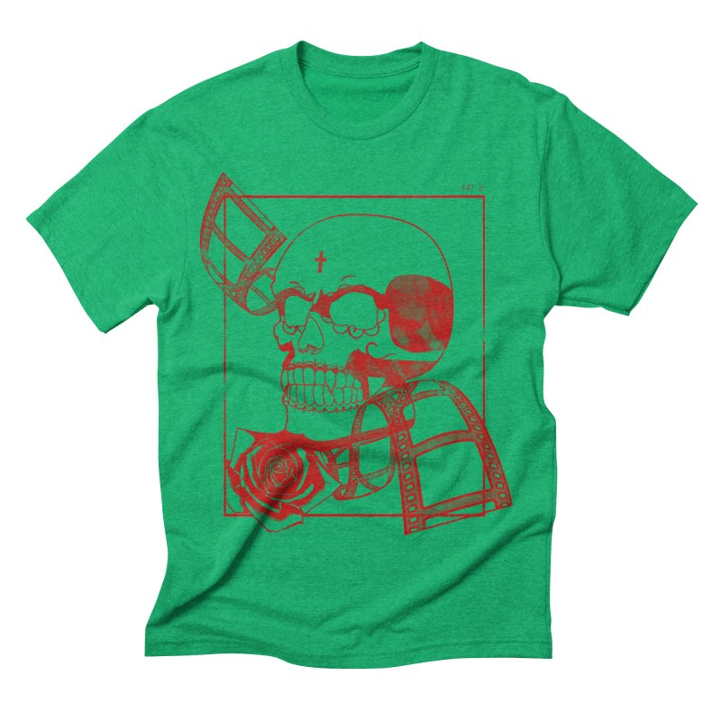 No. 2 in red outline Men's Triblend T-shirt by Calahorra Artist Shop