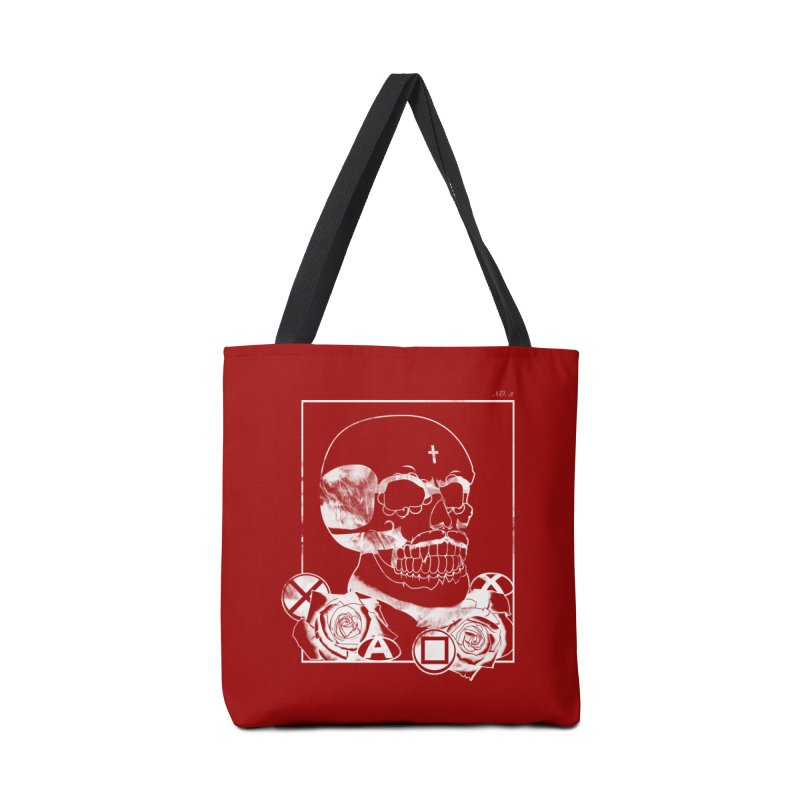 No. 3 in white outline Accessories Tote Bag Bag by Calahorra Artist Shop