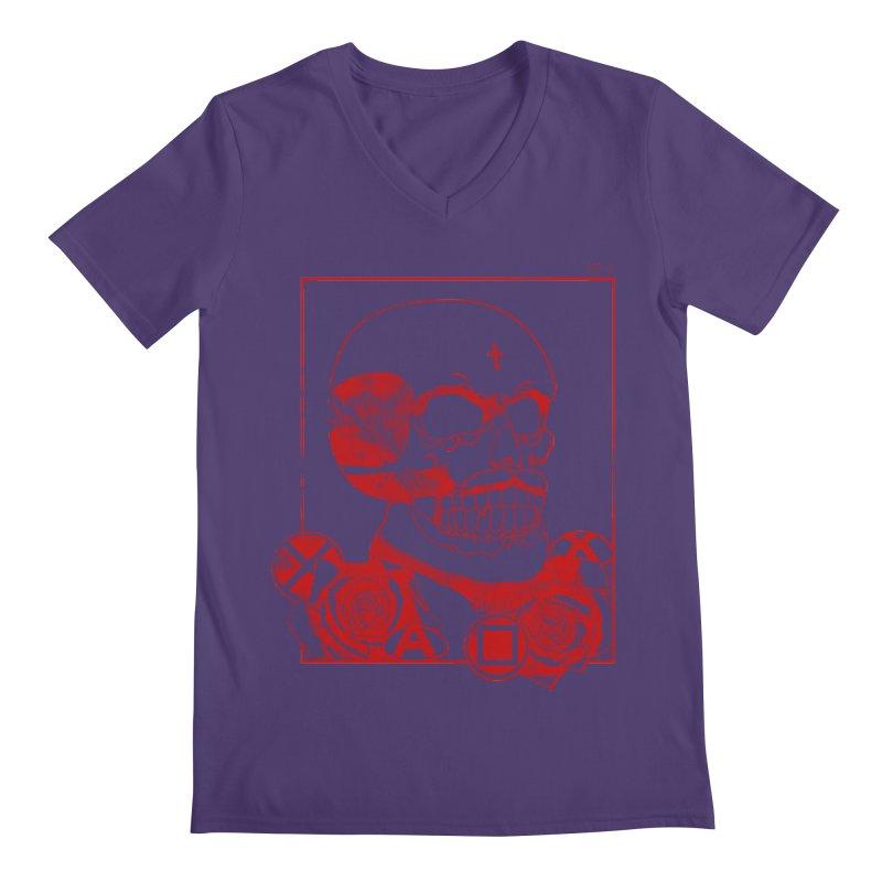 No. 3 in red outline Men's V-Neck by Calahorra Artist Shop