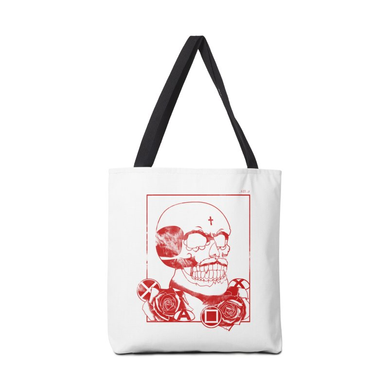 No. 3 in red outline Accessories Tote Bag Bag by Calahorra Artist Shop