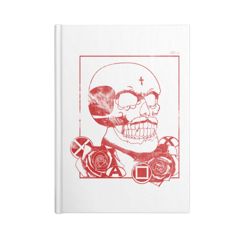 No. 3 in red outline Accessories Blank Journal Notebook by Calahorra Artist Shop