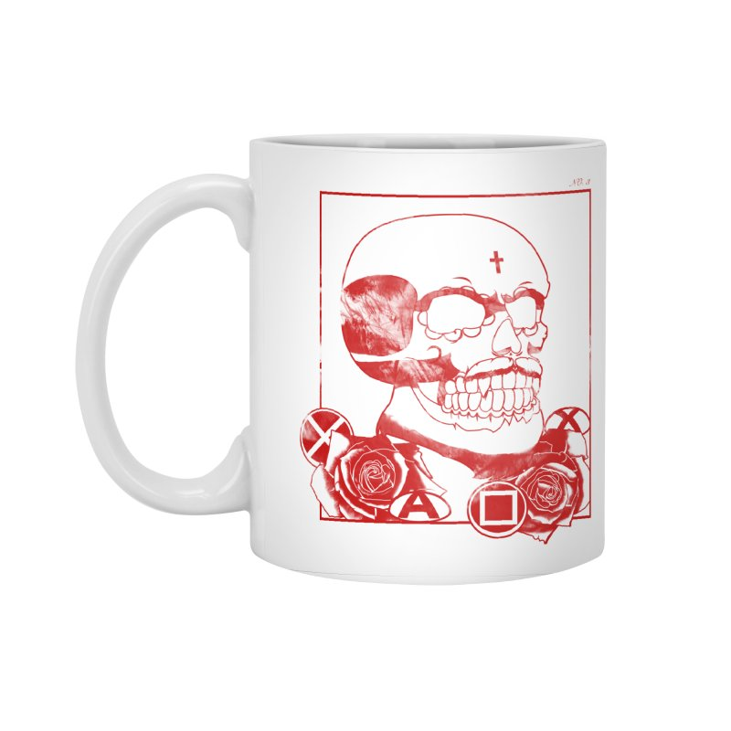 No. 3 in red outline Accessories Standard Mug by Calahorra Artist Shop