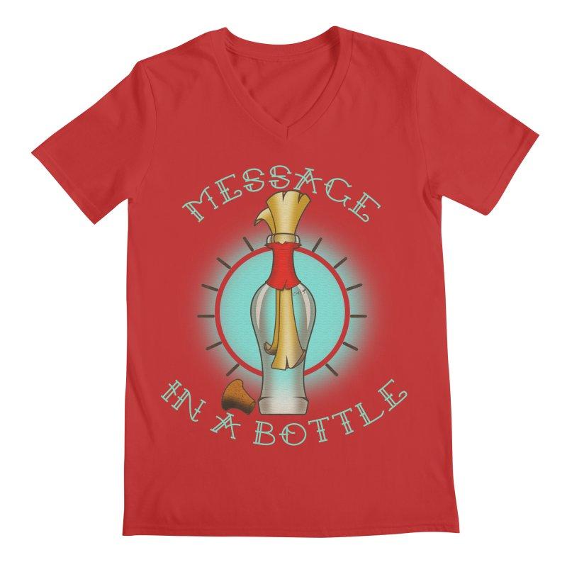 Message in a bottle Men's V-Neck by Calahorra Artist Shop
