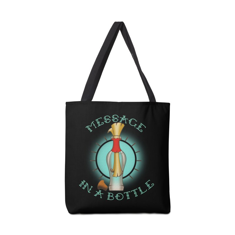 Message in a bottle Accessories Tote Bag Bag by Calahorra Artist Shop