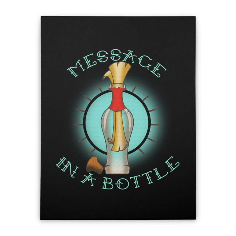Message in a bottle Home Stretched Canvas by Calahorra Artist Shop