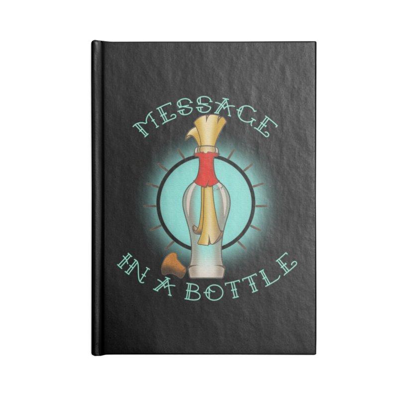 Message in a bottle Accessories Blank Journal Notebook by Calahorra Artist Shop