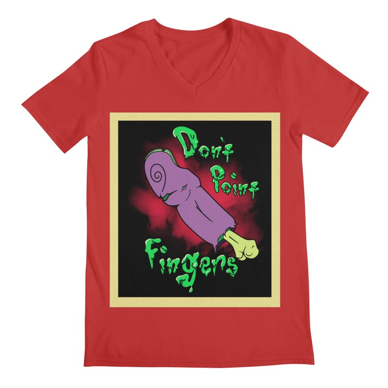 Don't Point Fingers!!! in purple Men's V-Neck by Calahorra Artist Shop