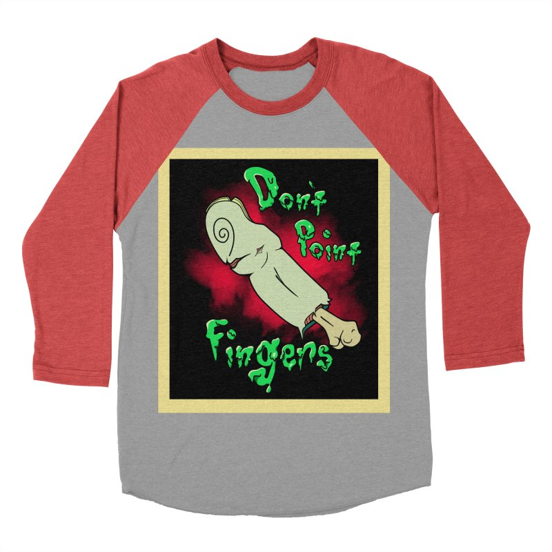 Don't Point Fingers!!! in blue Men's Baseball Triblend T-Shirt by Calahorra Artist Shop