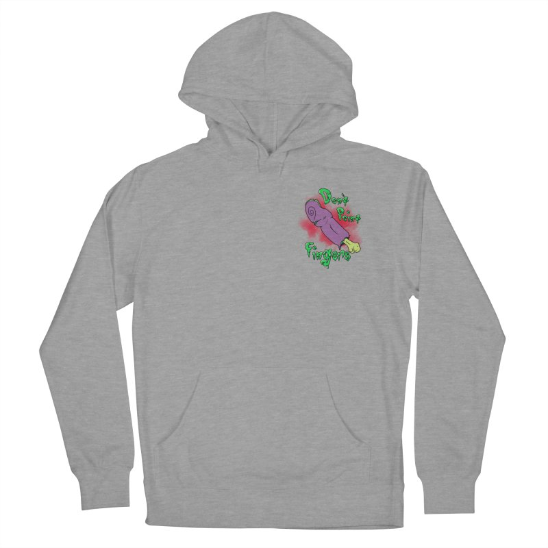 Don't Point Fingers!!! in purple pocket version Women's Pullover Hoody by Calahorra Artist Shop