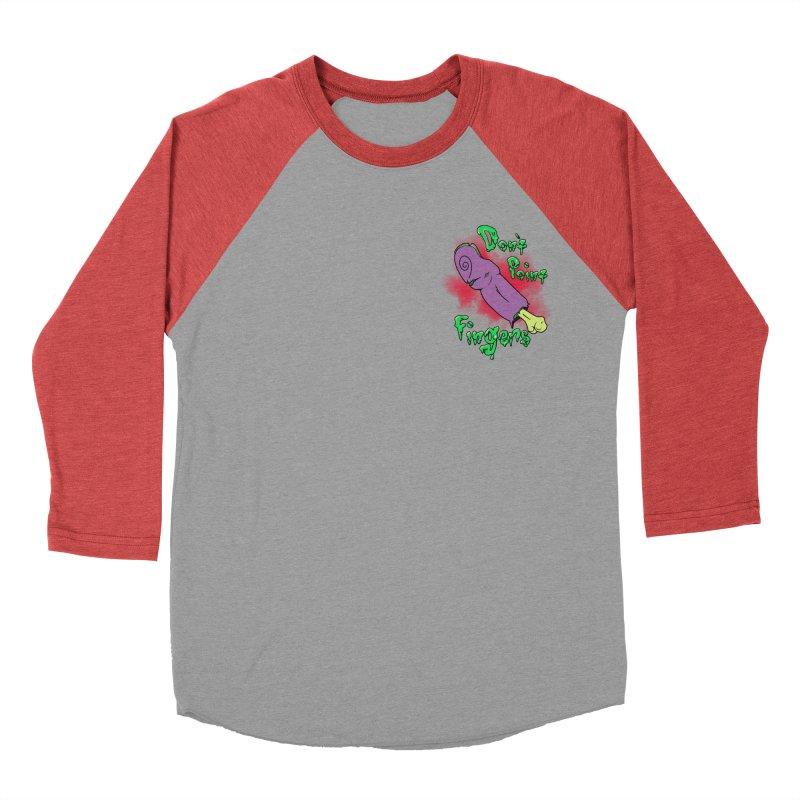 Don't Point Fingers!!! in purple pocket version Women's Baseball Triblend T-Shirt by Calahorra Artist Shop