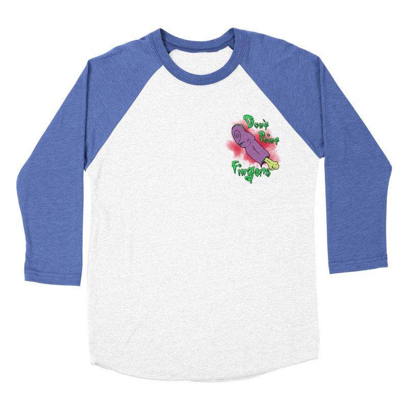 Don't Point Fingers!!! in purple pocket version Men's Baseball Triblend T-Shirt by Calahorra Artist Shop