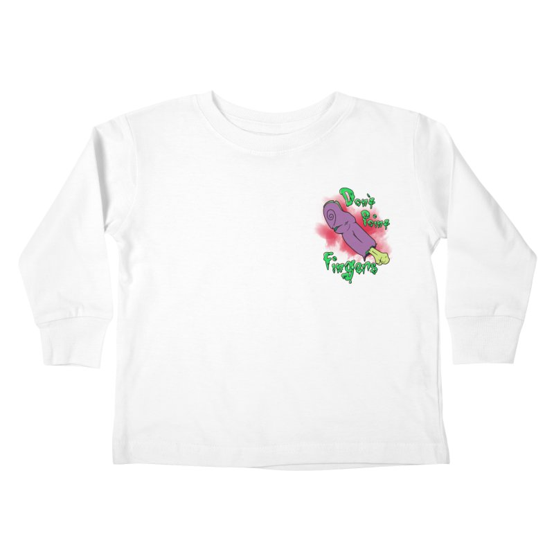 Don't Point Fingers!!! in purple pocket version Kids Toddler Longsleeve T-Shirt by Calahorra Artist Shop