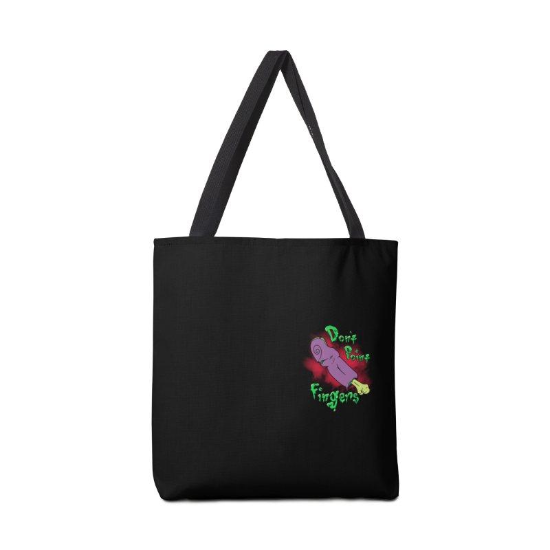 Don't Point Fingers!!! in purple pocket version Accessories Tote Bag Bag by Calahorra Artist Shop