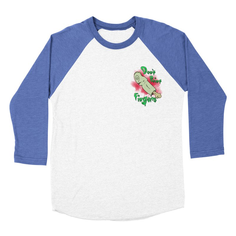 Don't Point Fingers!!! in blue pocket version Women's Baseball Triblend T-Shirt by Calahorra Artist Shop