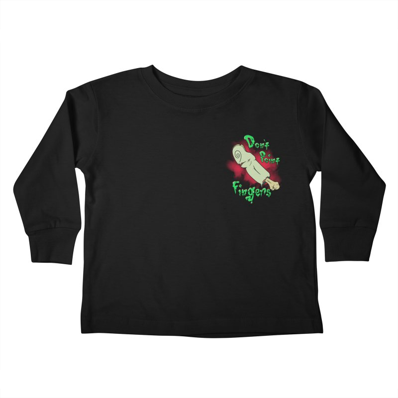 Don't Point Fingers!!! in blue pocket version Kids Toddler Longsleeve T-Shirt by Calahorra Artist Shop