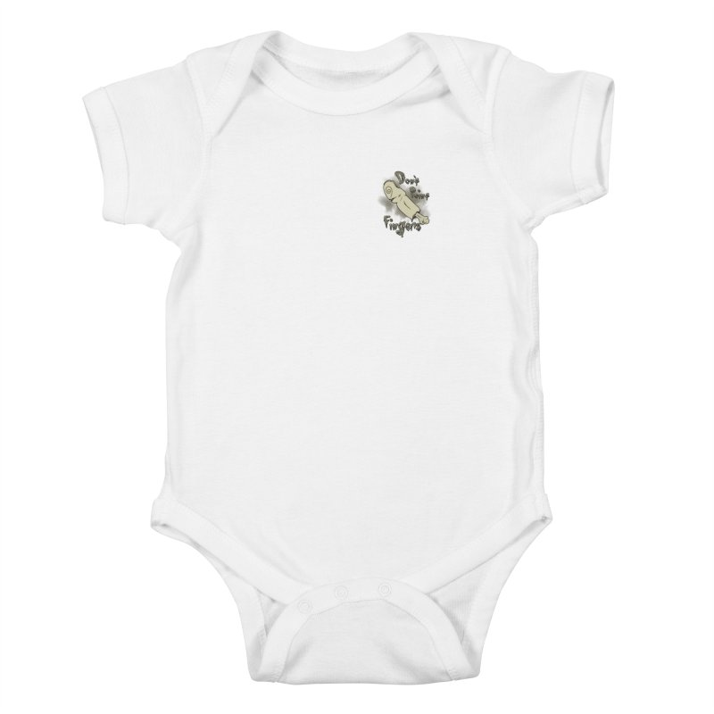 Don't Point Fingers!!! in classic pocket version Kids Baby Bodysuit by Calahorra Artist Shop