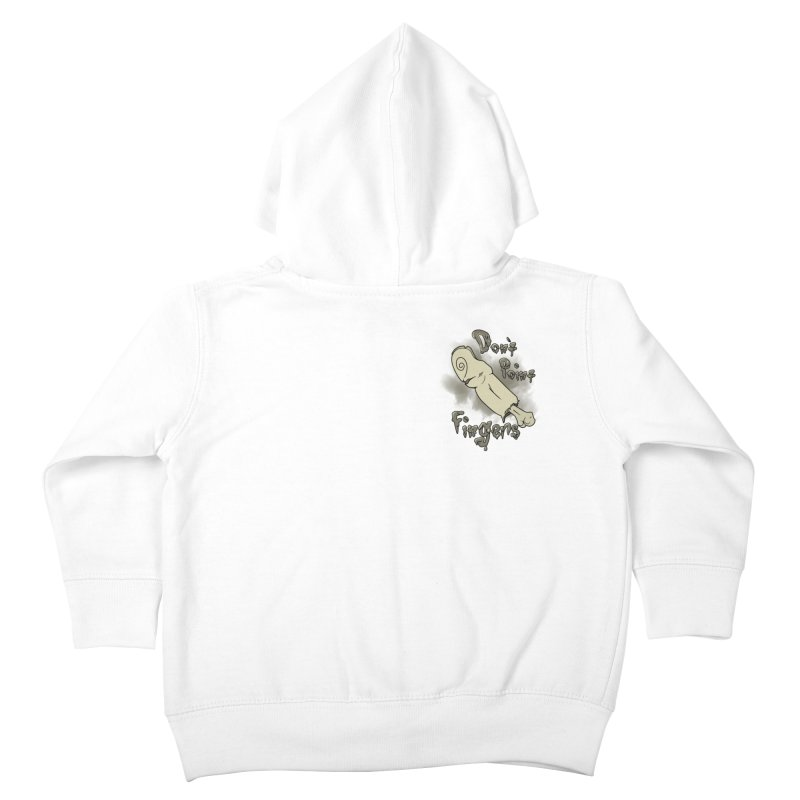 Don't Point Fingers!!! in classic pocket version Kids Toddler Zip-Up Hoody by Calahorra Artist Shop