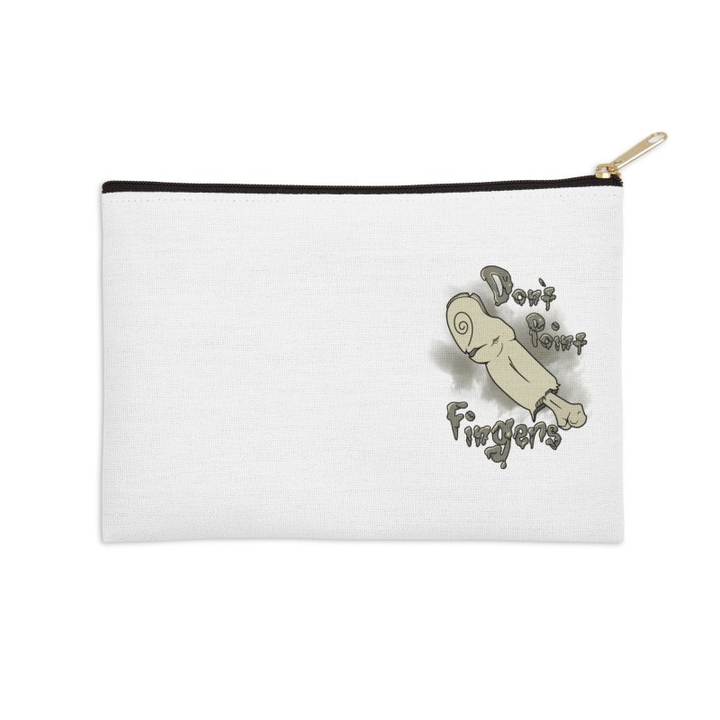 Don't Point Fingers!!! in classic pocket version Accessories Zip Pouch by Calahorra Artist Shop