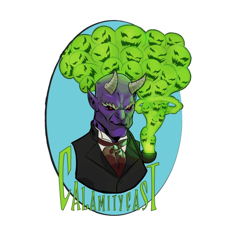 CalamityCast Demon (green text on oval) by Calamitycast's Artist Shop