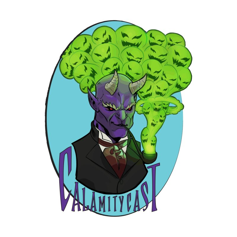 CalamityCast Demon (purple text on oval) by Calamitycast's Artist Shop