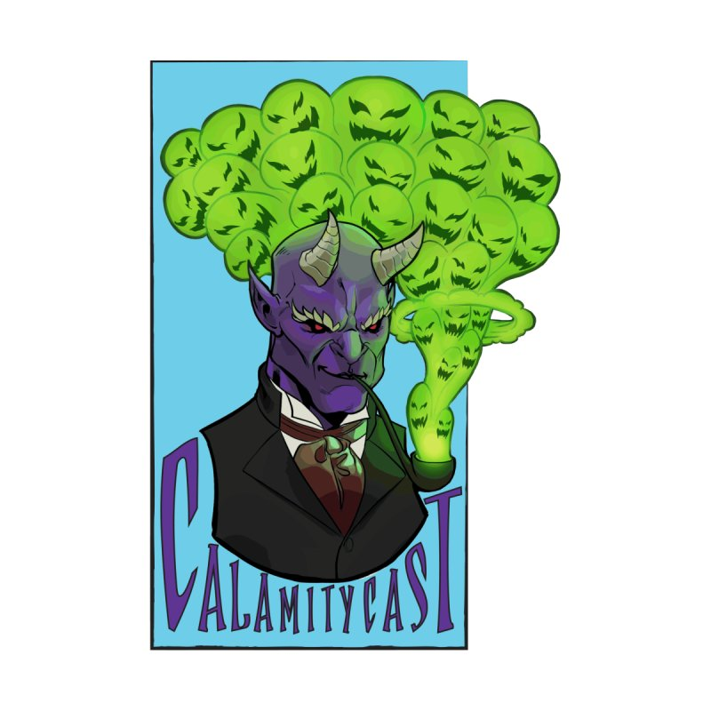 CalamityCast Demon (purple text on rectangle) by Calamitycast's Artist Shop
