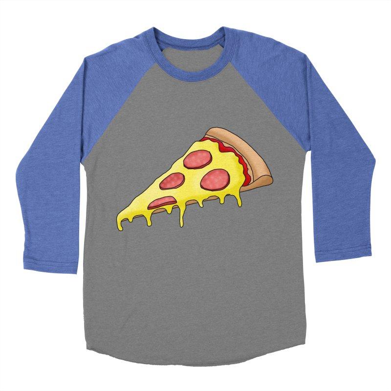 Pizza Men's Baseball Triblend T-Shirt by Camilla Barnard's Artist Shop