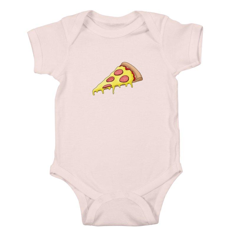 Pizza Kids Baby Bodysuit by Camilla Barnard's Artist Shop