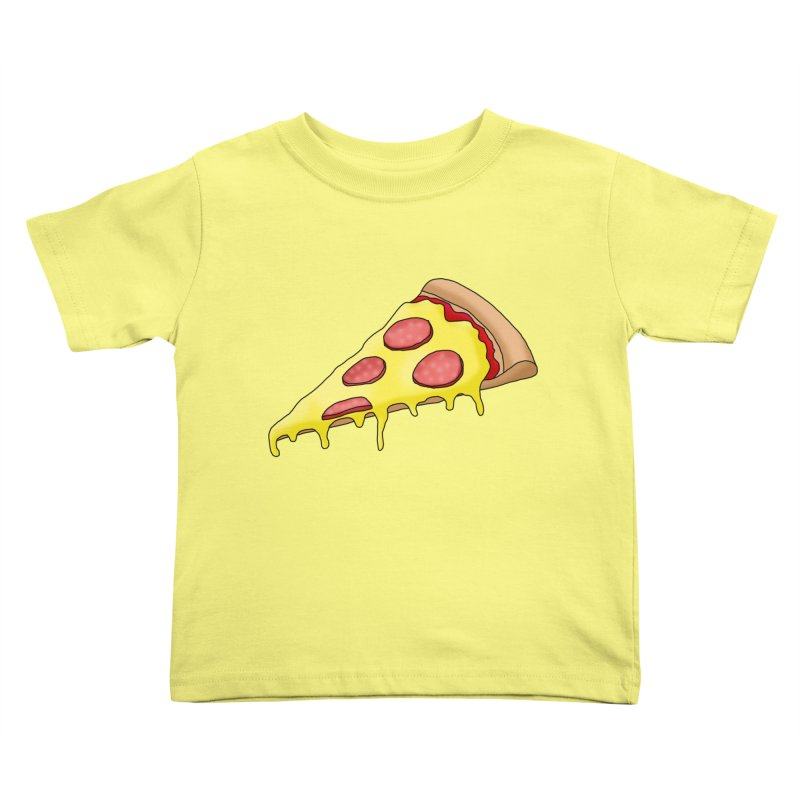 Pizza Kids Toddler T-Shirt by Camilla Barnard's Artist Shop
