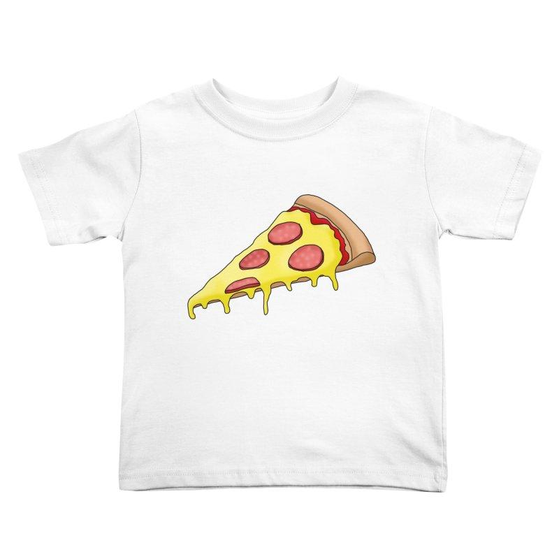 Pizza Kids Toddler T-Shirt by Camilla Barnard's Artist Shop