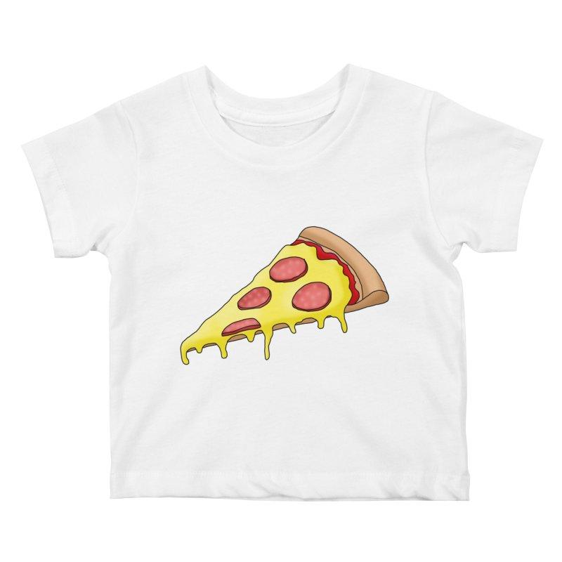 Pizza Kids Baby T-Shirt by Camilla Barnard's Artist Shop
