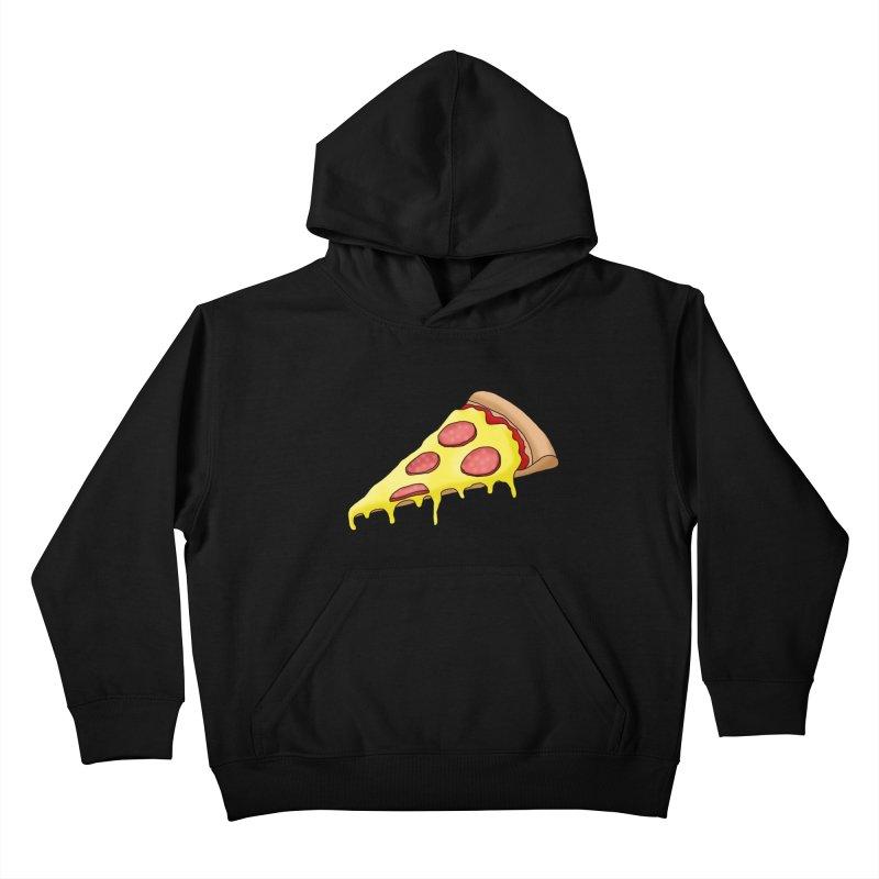 Pizza Kids Pullover Hoody by Camilla Barnard's Artist Shop