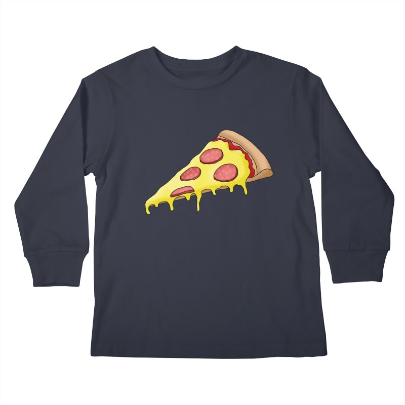 Pizza Kids Longsleeve T-Shirt by Camilla Barnard's Artist Shop
