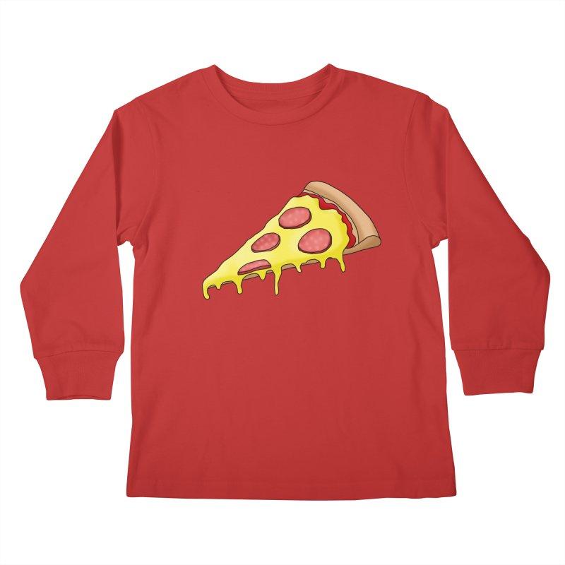 Pizza Kids Longsleeve T-Shirt by Camilla Barnard's Artist Shop