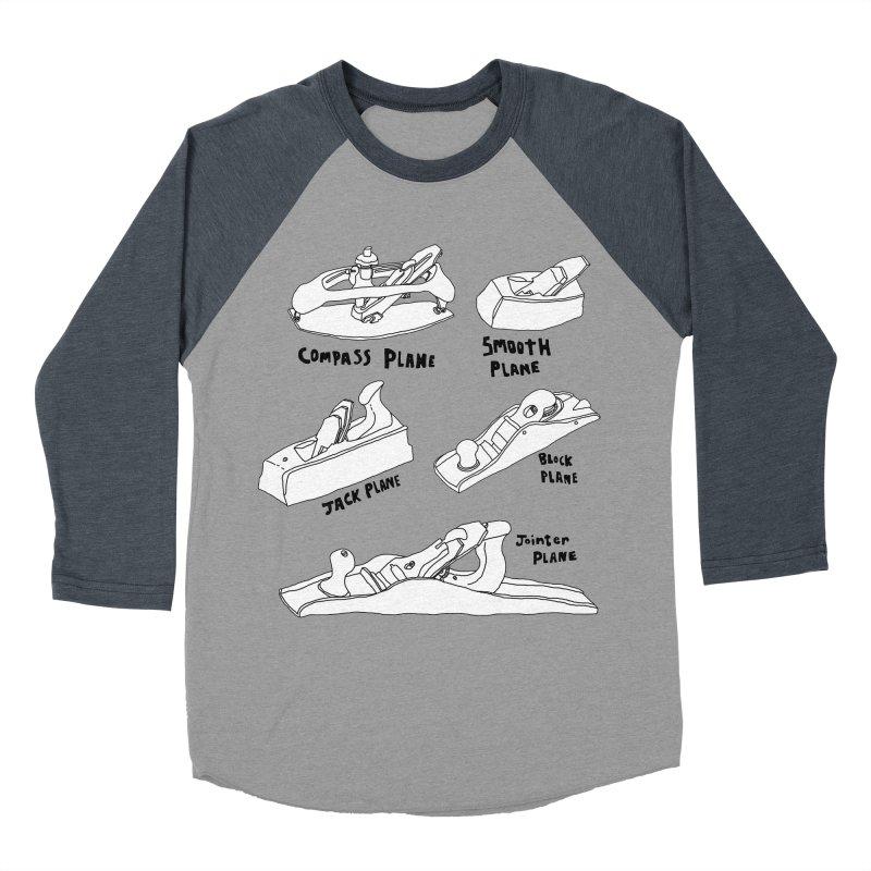 Plane Men's Baseball Triblend T-Shirt by Camilla Barnard's Artist Shop