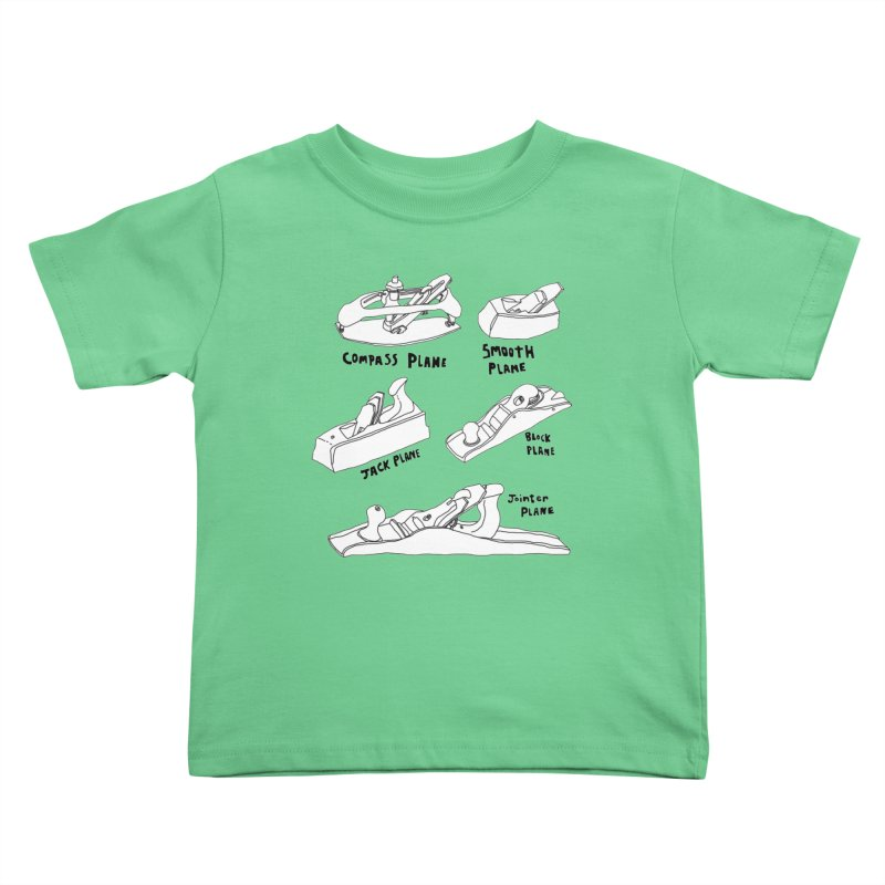 Plane Kids Toddler T-Shirt by Camilla Barnard's Artist Shop